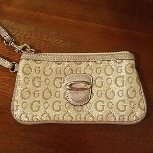 Guess Silver Small Wristlet